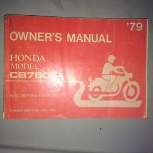 1979 Honda CB750 DOHC Owners Manual