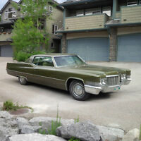 Classic 1970 Olive Green Cadillac