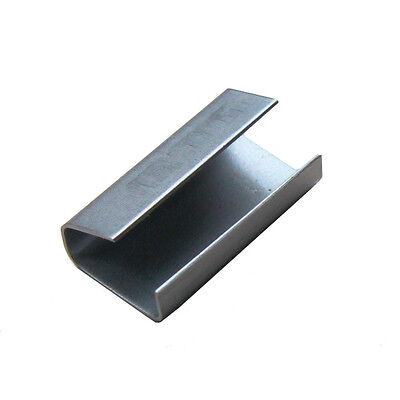 Full box of 2000 x 12mm x 24mm Metal Hand Pallet Strapping Banding Seals Clips