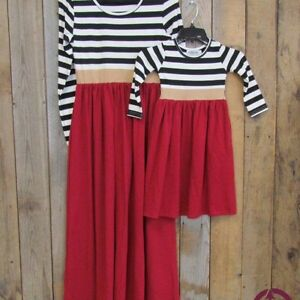 "Darling Stripes Dress for ""Mommy & Me"" fun"