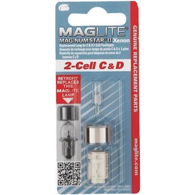 12 pk Mag Lite 2 Cell C/D Magnum Star II Xenon Replacemnt Flshlight Bulb LMXA201
