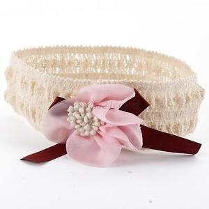 Toddler-Girls-Elastic-Hair-Band-Flower-Lace-Headband-Hair-Headwear-NewPink