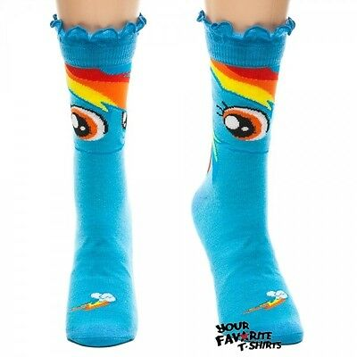 ow Dash Face Cute Mlp Crew Socks (Rainbow Dash Socken)