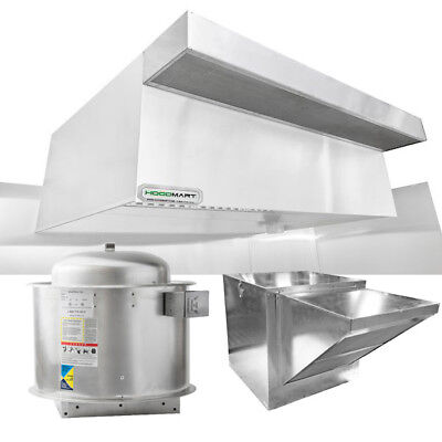 Hoodmart 10x48 Type 1 Commerical Kitchen Hood System W Psp Makeup Air