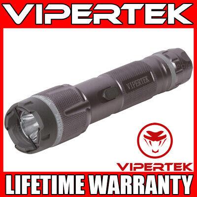 Vipertek Stun Gun Vts-t03 Gray 500bv Metal Rechargeable Led Flashlight