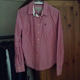 Jack wills ladies pink stripe shirt 10