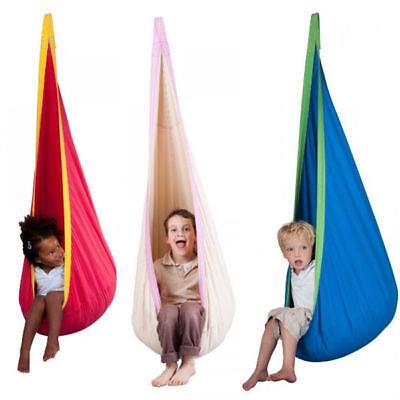 Kids Nook (Kids Pod Swing Chair Outdoor Garden Home Nook Tent Hanging Seat Hammock)