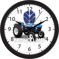 NEW HOLLAND FARM TRACTOR CLOCK LARGE WALL HANGING PICTURE ART GIFT