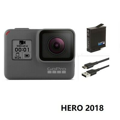 Used GoPro HERO 2018 1440P 1080 Action HD Camera Touch Screen Camcorder Case USA