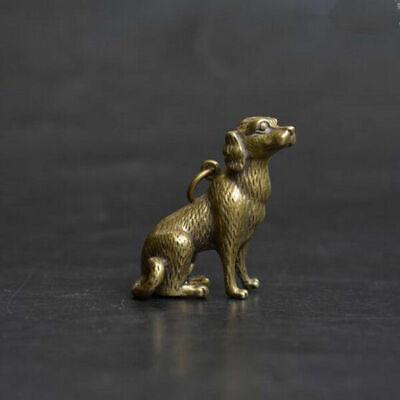 Chinese Antique Collectible buckle Bronze Zodiac pig Earpick Key Pendants Gift