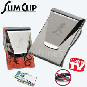New-Slim-Money-Clip-As-Seen-On-TV-Credit-Card-Holder-Stainless-Steel-Pub-Wallet