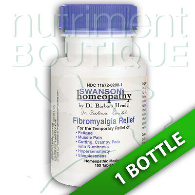 Fibromyalgia Relief Swanson Homeopathy/Temp fatigue relief/Muscle pain 100 Pills