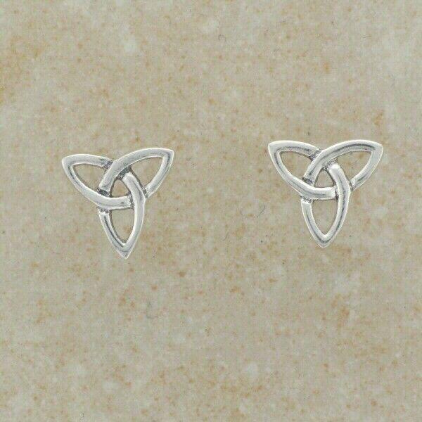 Irish Celtic Sterling Silver Triquetra stud earrings
