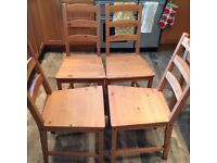 4 IKEA dining chairs in excellent condition
