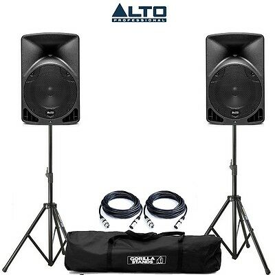 "2x Alto TX8 8"" 2-Way 280W Class D Active Powered DJ PA Disco Speakers"
