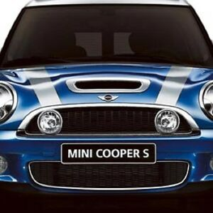 Mini cooper s hardtop coupe clubman convertible chrome hood bonnet scoop new ebay Mini cooper exterior accessories
