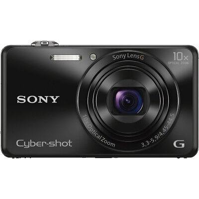 Sony DSC-WX220 Black Compact Point and Shoot Digital Still C