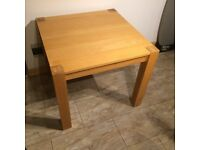 Oak kitchen dining table square 90cm X 90cm