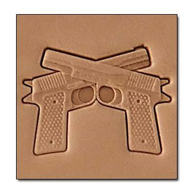 Pistols Craftool 3-D Stamp Tandy Leather 8690-00
