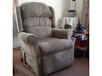 Three piece suite with two riser / recliner chairs