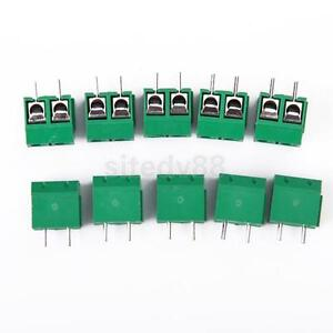 10x-2-Pin-PCB-Mount-Terminal-Block-Connector-5mm-Pitch-AC-250V-16A-New