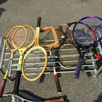 Rackets: tennis, badminton, racket ball