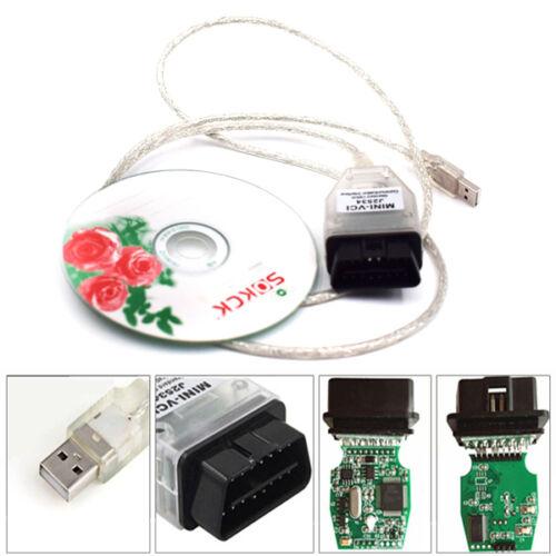 MINI-VCI J2534 OBDII USB Cable Diagnostic Code Scanner For Toyota Lexus TIS Trig