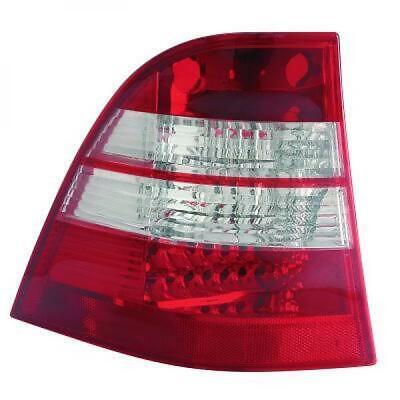 Rückleuchten Set für Mercedes M-Klasse W163 98-06 LED Klarglas/Rot-Weiss