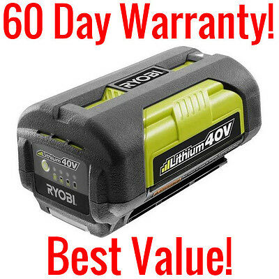 Genuine Ryobi Op4026 40 Volt Lithium Ion Replacement Battery 40V 94Wh Li Ion