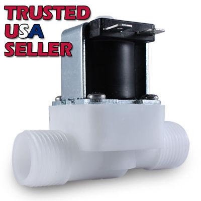 "1/2"" 110 - 120 Volt AC Plastic Electric Solenoid Valve Water NPT 110V AC N/C"