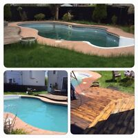 Pool Opening and weekly maintenance