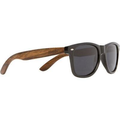 New WOODIES Walnut Wood Polarized Sunglasses w/ Black (Black Wood Sunglasses)