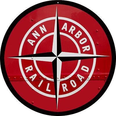 Ann Arbor Railroad Sign Round