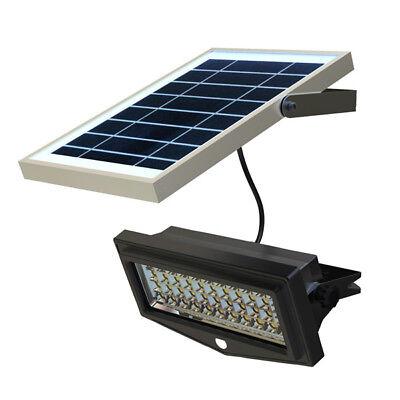 Foco De Energía Solar de Jardín Proyector LED Farola Fotovoltaica Lámpara Faro