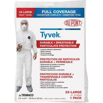 Dupont Tyvek 2xl Hooded Reusable Painters Coveralls