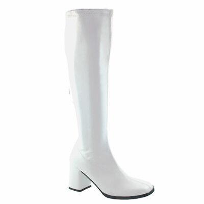 e Funtasma Damen Frauen Stiefel Boots weiß Lederoptik Gr 38 (Weiße Go-go Stiefel)