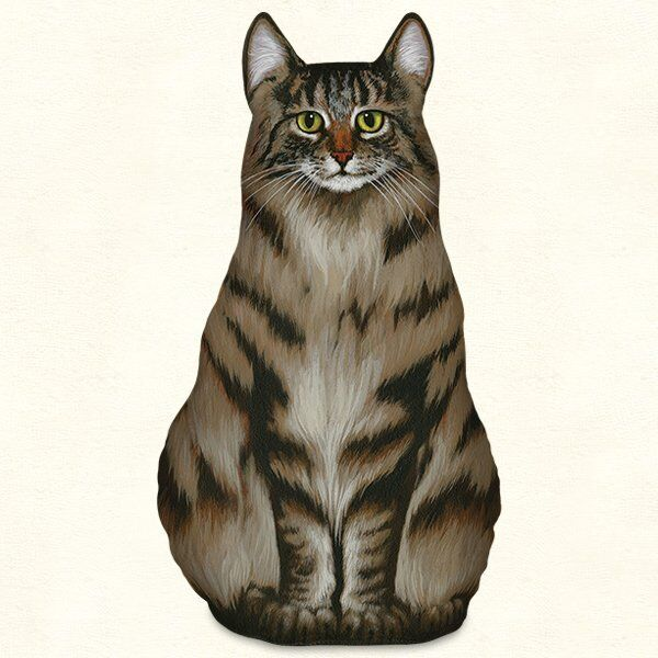 Maine Coon Cat Shaped Doorstop or Pillow