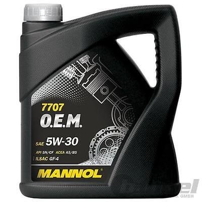 [4,00€/L] 5L 5W30 MOTORÖL MANNOL O.E.M. 7707 FORD VOLVO SAE 5W-30