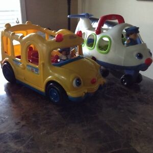 Fisher Price Little People Bus & Airplane