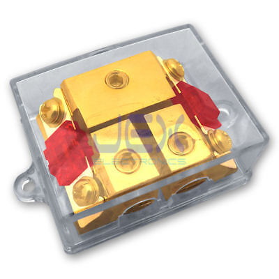 2-Way/2X AFS In-Line Fuse Holder Distribution Block Stereo/Audio/Car + 30A-100A ()
