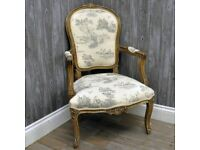 LOUIS - GREY UPHOLSTERED ARMCHAIR