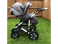 Next to New Pram/carry cot, stroller with car seat