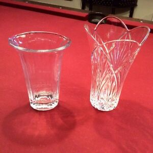 2 Beautiful Crystal Vases West Island Greater Montréal image 2