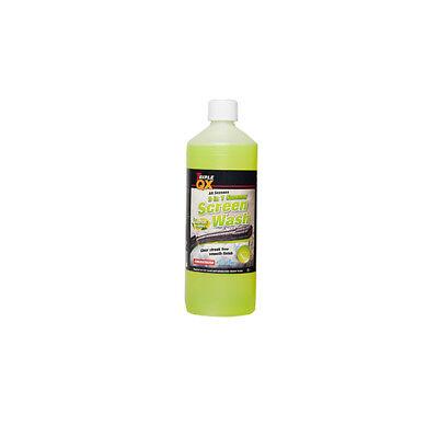 78066 1L 3 In 1 All Season Screen Wash 1 Litre With Rain Repellent By Triple QX