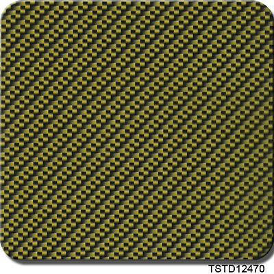 Hydrographics Film Yellow Gold Carbon Fiber 39 X 39