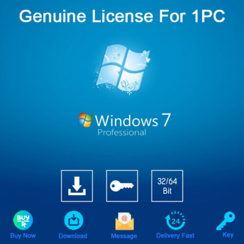 Windows 7 Professional 32/64bit Activation Download License Genuine