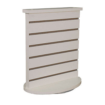 Slatwall Countertop Spinner Display In White 18w X12d X21-12h Inches
