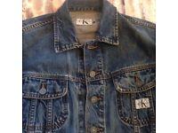 Calvin Klein Fitted Lovely Blue Denim Jacket