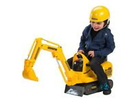 Toddler/kids sit n ride JCB excavator/digger £20 great for the snow or the beach !
