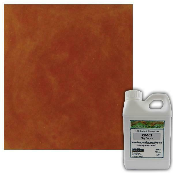 Concrete Resurrection Reactive Acid Concrete Stain Clay Cany